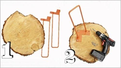 Idea de decoracion rustica mesa auxiliar de madera de pino DIY 5