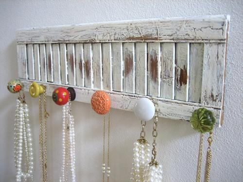 Ideas para decorar cómo hacer colgadores con tiradores vintage 1