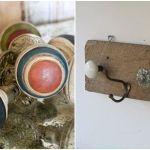 Ideas para decorar cómo hacer colgadores con tiradores vintage 8