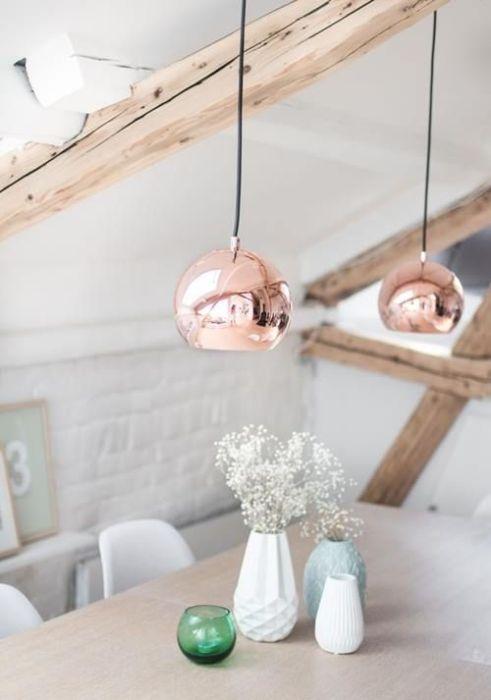 Lámparas de color cobre y otras piezas para decoracion vintage 6
