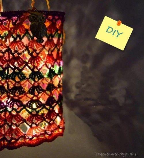 Labores de ganchillo preciosa lampara de crochet 3