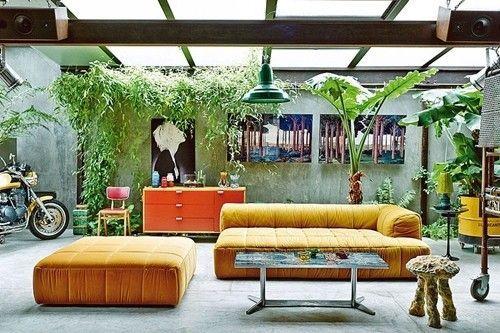 Casas con encanto loft con estilo industrial y muebles - Muebles con encanto online ...