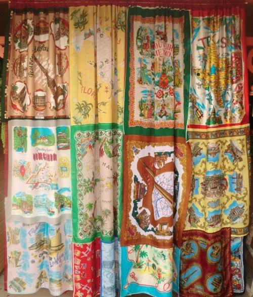 Hacer cortinas originales con pañuelos estilo boho chic 3