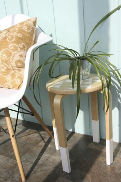 Transformar muebles Ikea ideas para tunear el taburete Frosta 19