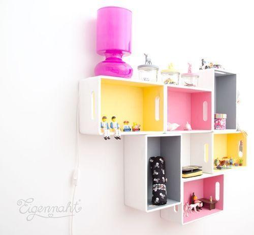 15 ideas para decorar cajas de madera y tunearlas en estanterías 4