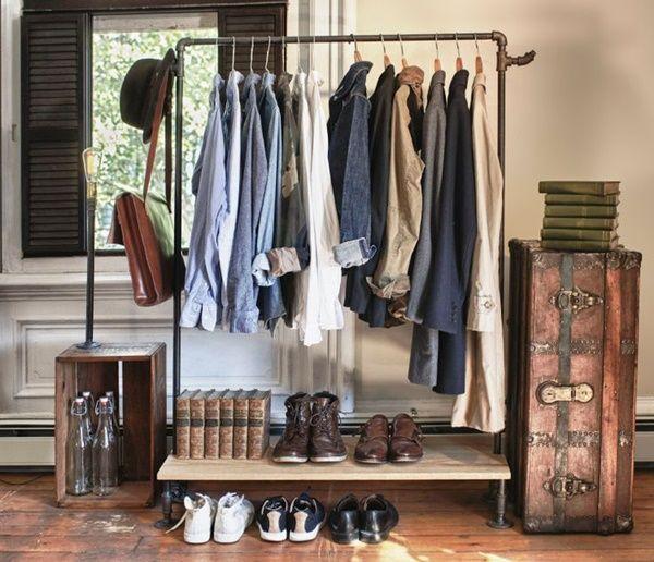 Burros para ropa los percheros a la vista 'rompen' en decoración... 4