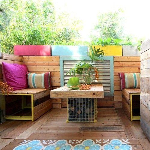 Ideas para decorar terrazas con palets y disfrutar del for Dec para terrazas