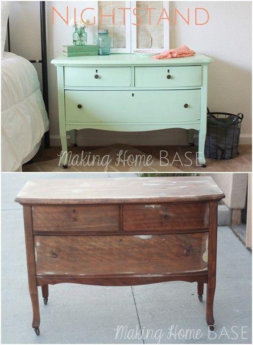 20 ideas para pintar muebles de madera antiguos a todo color ...