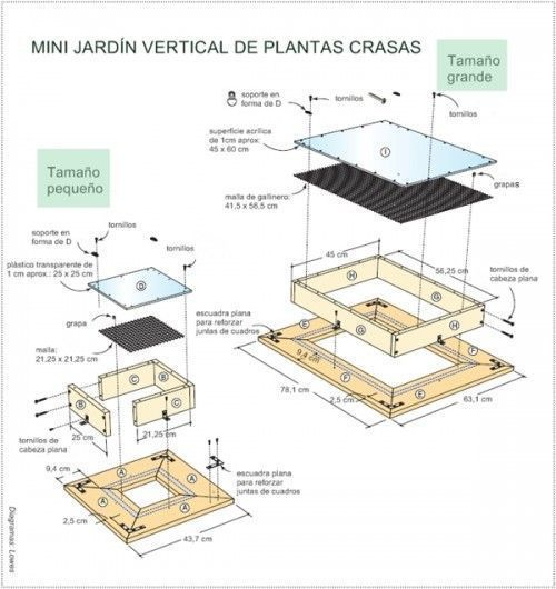 Decorar terraza peque a jardin vertical de crasas for Estructura jardin vertical