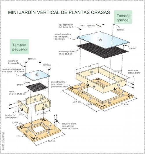 Decorar terrazas pequeñas mini jardín vertical de plantas crasas 1