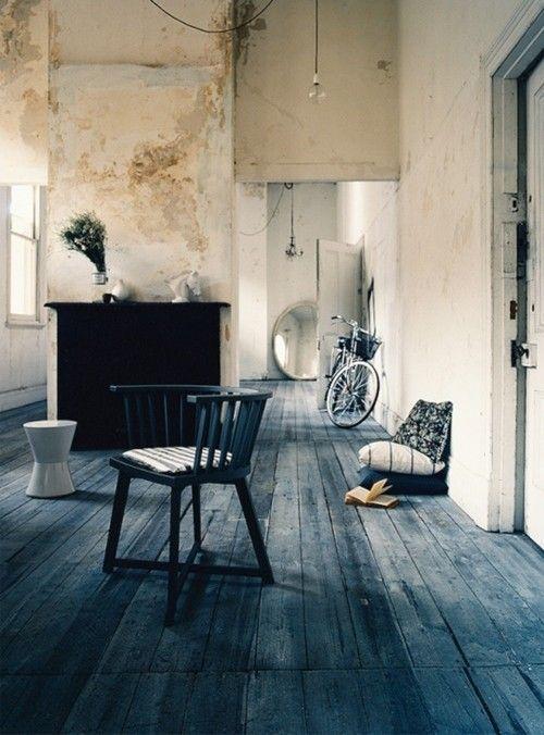 Ideas para pintar una casa paredes vintage efecto desgastado 2