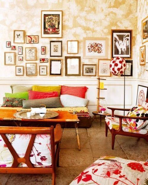 Ideas para pintar una casa paredes vintage efecto desgastado 5