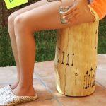 Tendencia naturalista: personalizar muebles en crudo con stencil