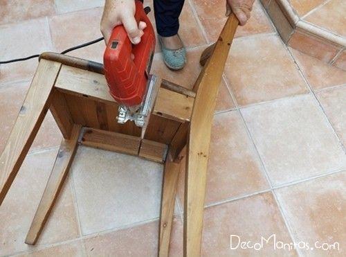 Reciclar muebles con otro uso reciclaje creativo de una vieja silla 6