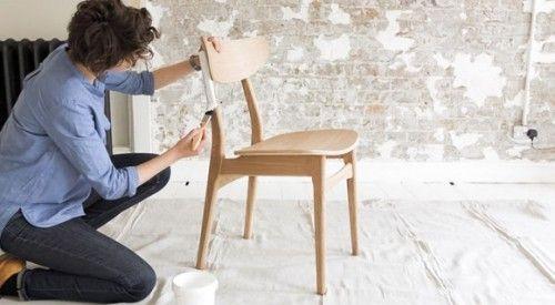 DIY efecto dip pintar muebles con las patas sumergidas... 1