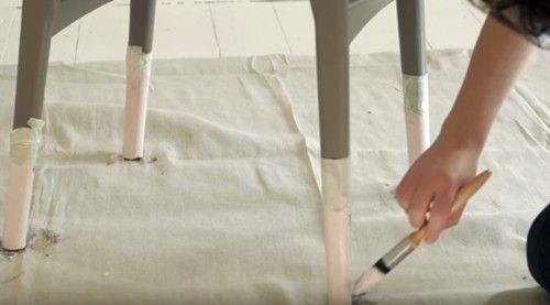 DIY efecto dip pintar muebles con las patas sumergidas... 6
