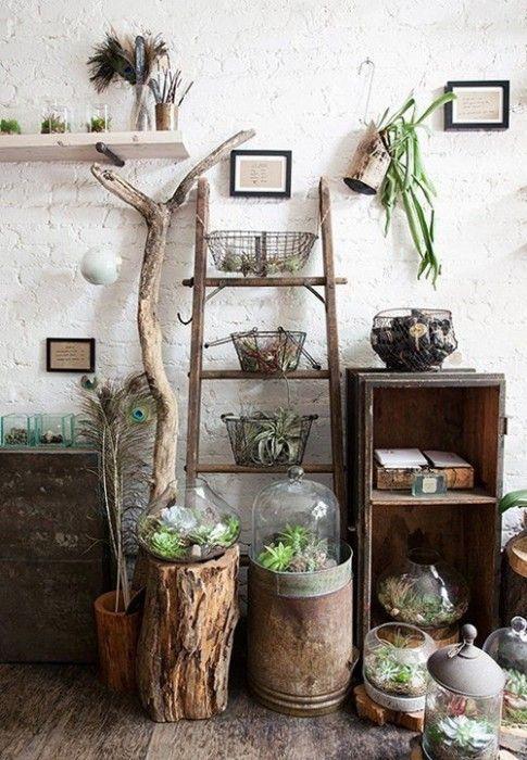 Los 25 rincones con plantas de interior m s bellos de - Decorar rincones ...