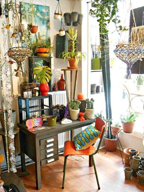 Los 25 rincones con plantas de interior más bellos de Pinterest 5