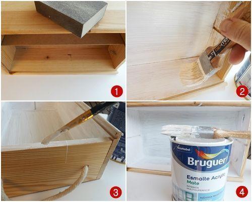 Reciclar cajas de madera de vino para organizar collares y pendientes 4