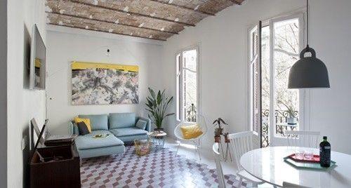 Casas con encanto reforma fuera tabiques de un piso en Barcelona 1