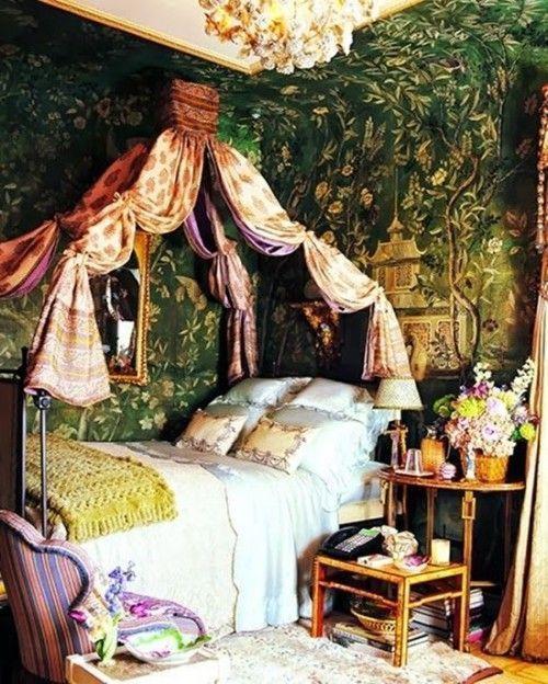Los 25 dormitorios de estilo boho chic más bellos de Pinterest 15