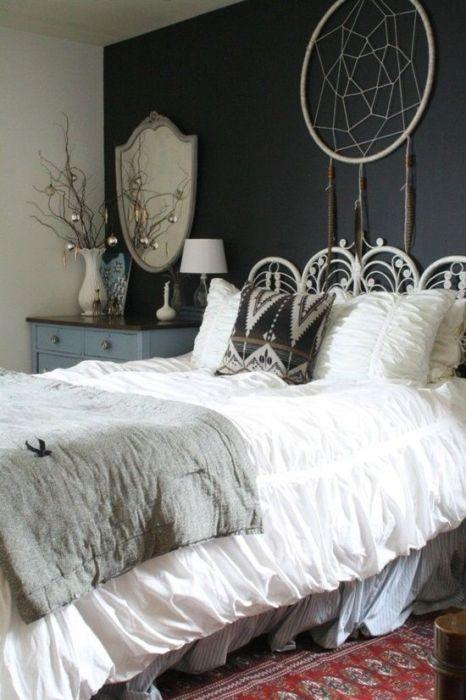 Los 25 dormitorios de estilo boho chic más bellos de Pinterest 18