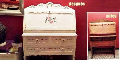 Pintar muebles con stencil: el antes y el despuésl 1