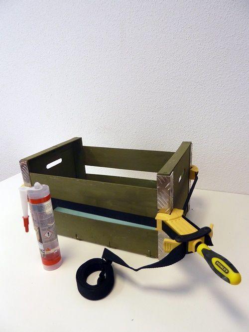Reciclar cajas de fruta en original mueble auxiliar 4