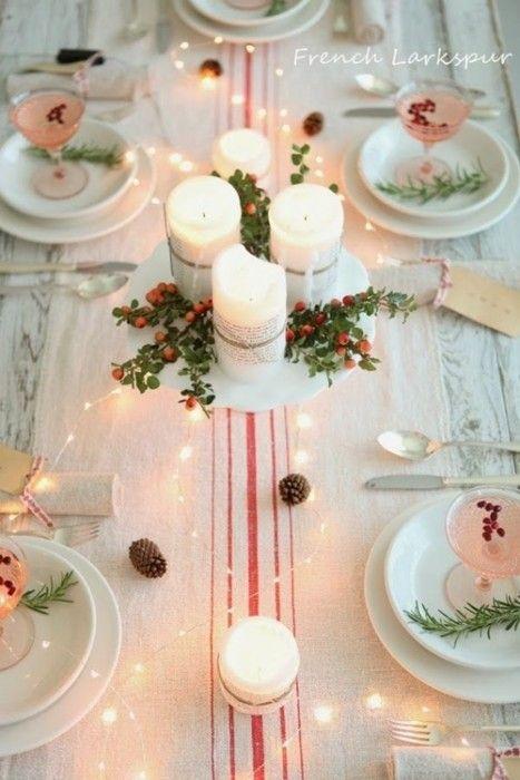 15 Ideas de decoración eco-chic para mesas de Navidad10