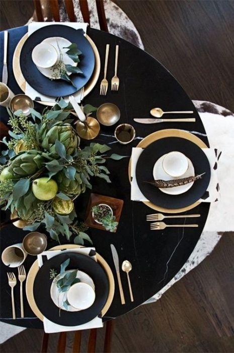 15 Ideas de decoración eco-chic para mesas de Navidad 15