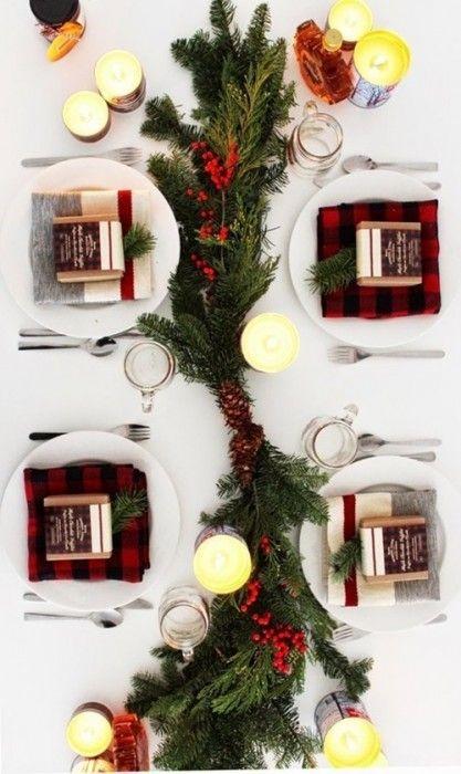 15 Ideas de decoración eco-chic para mesas de Navidad3