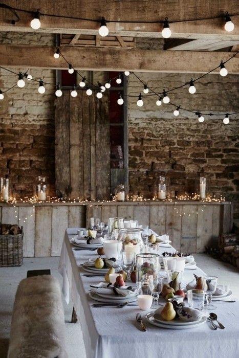 15 Ideas de decoración eco-chic para mesas de Navidad4