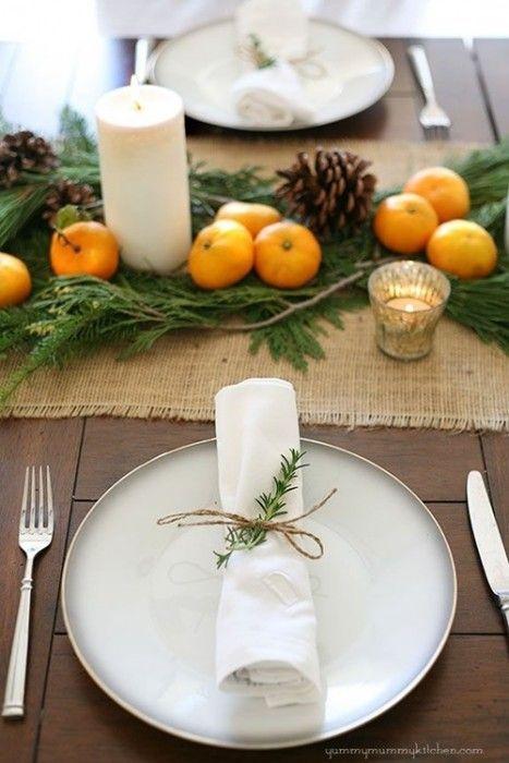 15 Ideas de decoración eco-chic para mesas de Navidad7