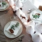 15 Ideas de decoración eco-chic para mesas de Navidad8