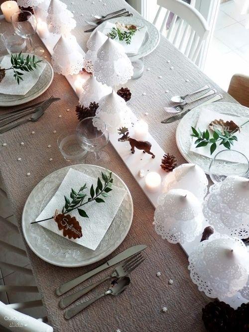 15 Ideas de decoración eco-chic para mesas de Navidad 8