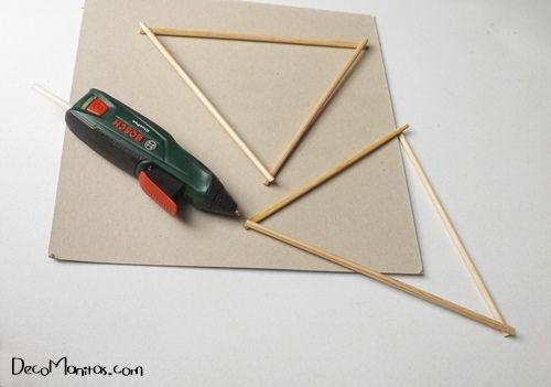Estrellas de Navidad DIY con palitos y cuerda 7