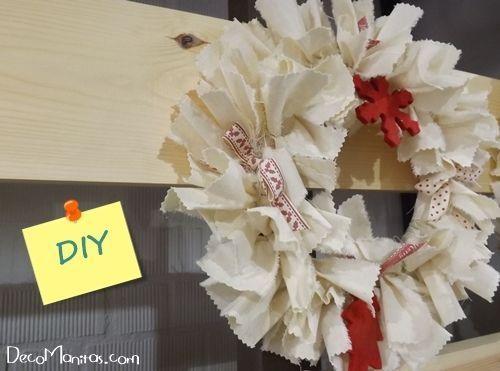 Manualidades navideñas cómo hacer una corona de Adviento DIY 1