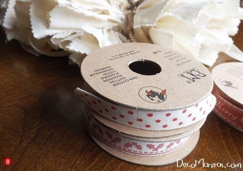 Manualidades navideñas cómo hacer una corona de Adviento DIY 6