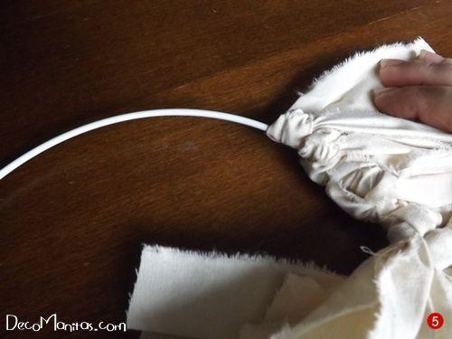 Manualidades navideñas cómo hacer una corona de Adviento DIY 6b