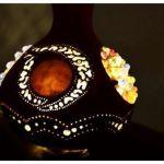 Artesanía con calabazas lámparas originales llenas de misterio 8