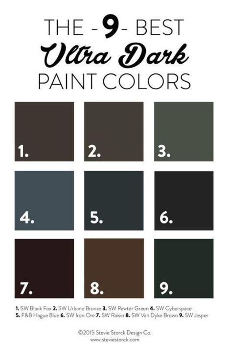 Colores para paredes intensos, y pintar la casa con drama... 5