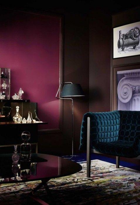 Colores para paredes intensos, y pintar la casa con drama... 19