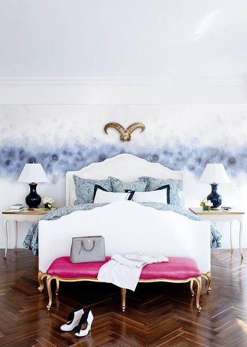 Pintar paredes de pizarra acuarela, empapelar con trampantojos qué idea 8