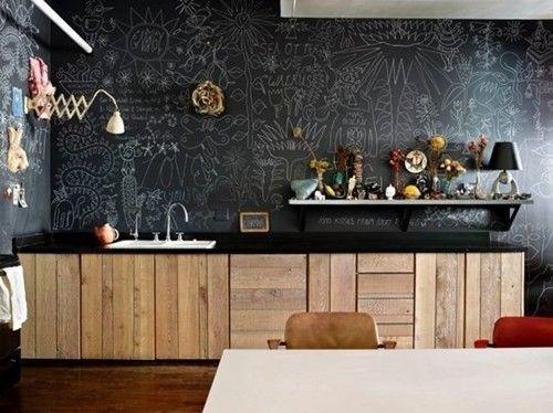 Pintar paredes efecto acuarela o pizarra trampantojos decomanitas - Pizarra para paredes ...