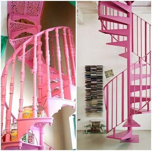 escaleras de caracol para aligerar los espacios en las viviendas 6