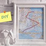 Decora tu pared con un mapa personalizado con hilo de bordar