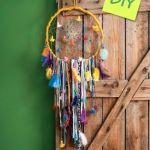 DIY decoración: atrapasueños étnico a todo color