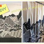 Hacer cortinas y pintarlas con dibujos geométricos ¡Fácil!
