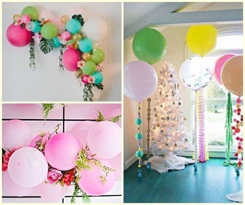 Las 12 ideas de decoraci n con globos que cambiar n tu - Bombas para decorar ...