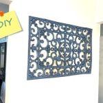 DIY decoración: falsa forja con felpudo de goma